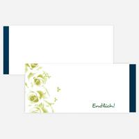 Einsteck-Kuverts - Vollkommene Rosen - Grün