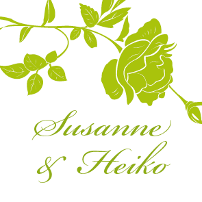 Geschenkanhänger stilisierte rosen grün