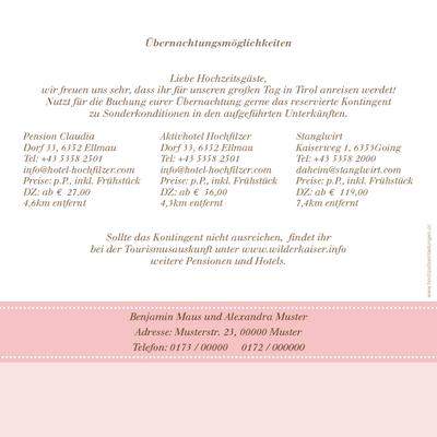 Fotokarte Hochzeitseinladung Ort Der Begegnung Rosa