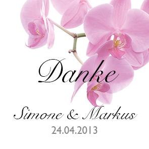 Geschenkanhaenger Pinke Orchidee