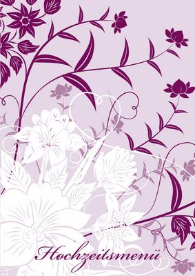 Florale elemente in lila hilfe einblenden änderungswunsch hinzufügen vorne hinten