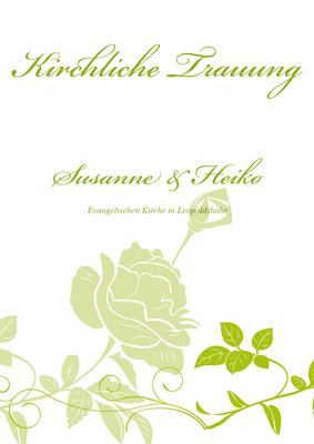 Auffallende kirchenhefte stilisierte rosen grün hilfe einblenden änderungswunsch hinzufügen vorne hinten