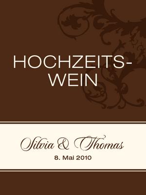 Einsteck Kuverts Vintage Ornamente Braun