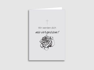 """Trauerkarten """"Stille Gedanken"""""""