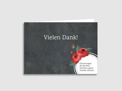 """Dankeskarten Trauer """"Vintage Rosen"""""""