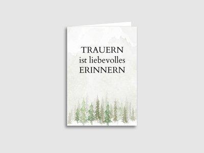 """Sterbebilder """"Wald"""""""