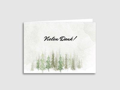 "Dankeskarten Trauer ""Wald"""