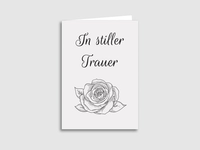 "Trauerkarten ""Rose"""